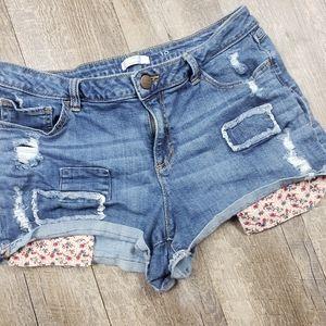 Lauren Conrad Printed Pocket Jean Shorts